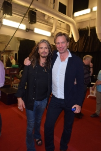 Steven Tyler with Giles Martin at The Beatles LOVE by Cirque du Soleil in Las Vegas, June 30